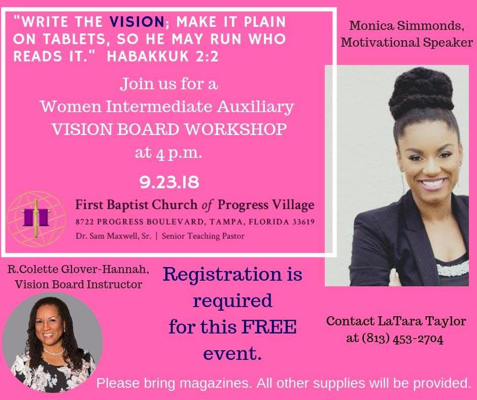 WIA-Vision Board Workshop