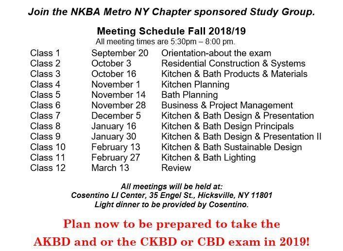 NKBA Metro NY Study Group