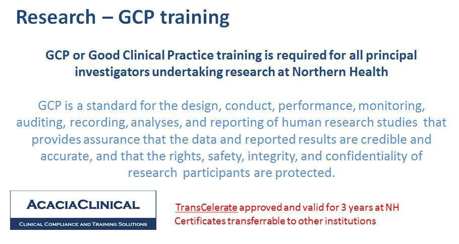 Good Clinical Practice Gcp Regulatory Requirements For Research