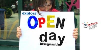 Open Day insegnanti @Explora 2018