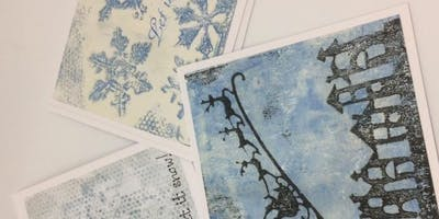 Monoprint workshop – Christmas cards
