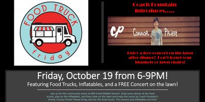 Food Truck Friday & Concert Featuring Connor Priest
