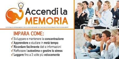 MERANO - Accendi la Memoria, mini corso gratuito