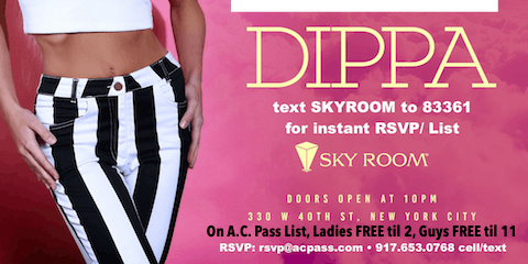 NYC Rooftop Saturdays. text keyword SKYROOM to 83361, Everyone FREE Cover