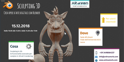 Sculpting 3D: crea opere d'arte digitali con Blender