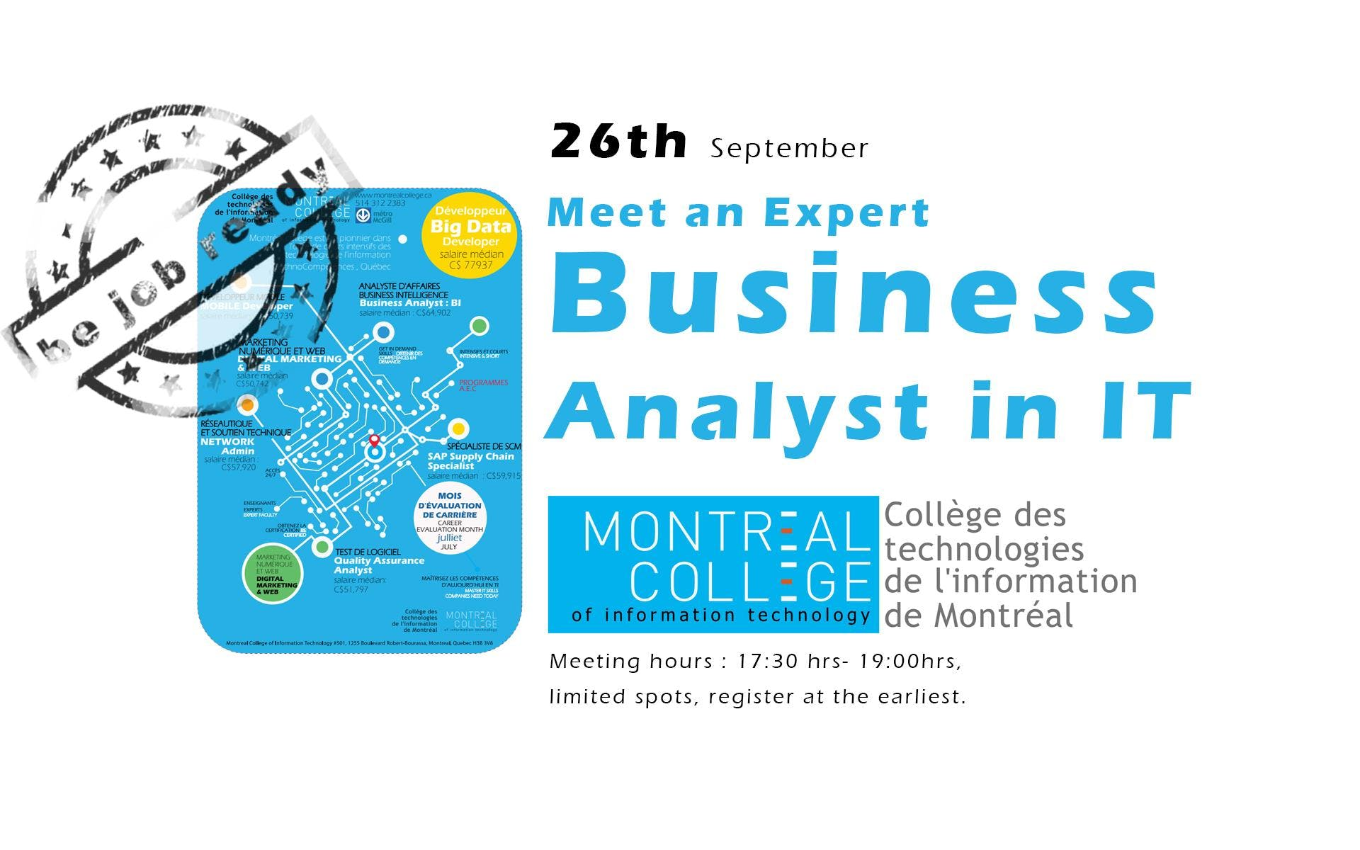 Montreal College's Business Analyst in IT - I