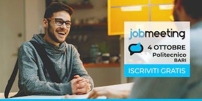 Il 4 Ottobre a Bari torna il Job Meeting. Incontra le aziende che assumono!