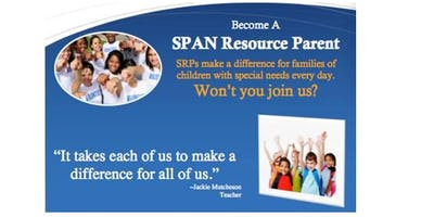 SPAN Presents: Becoming a SPAN Resource Parent (South) Summer 2019