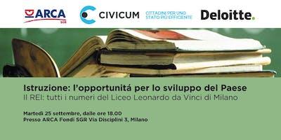 Istruzione: l'opportunità per lo sviluppo del Paese. Il REI del Liceo Leonardo D.V.