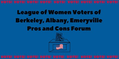 LWV State and Local Pros and Cons Forum