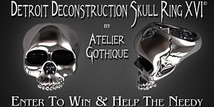 The Atelier Gothique Detroit Deconstruction Skull Ring...