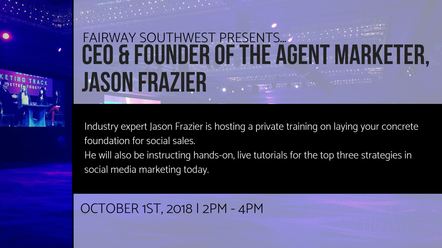 CEO & Founder of The Agent Marketer, Jason Frazier Mastermind