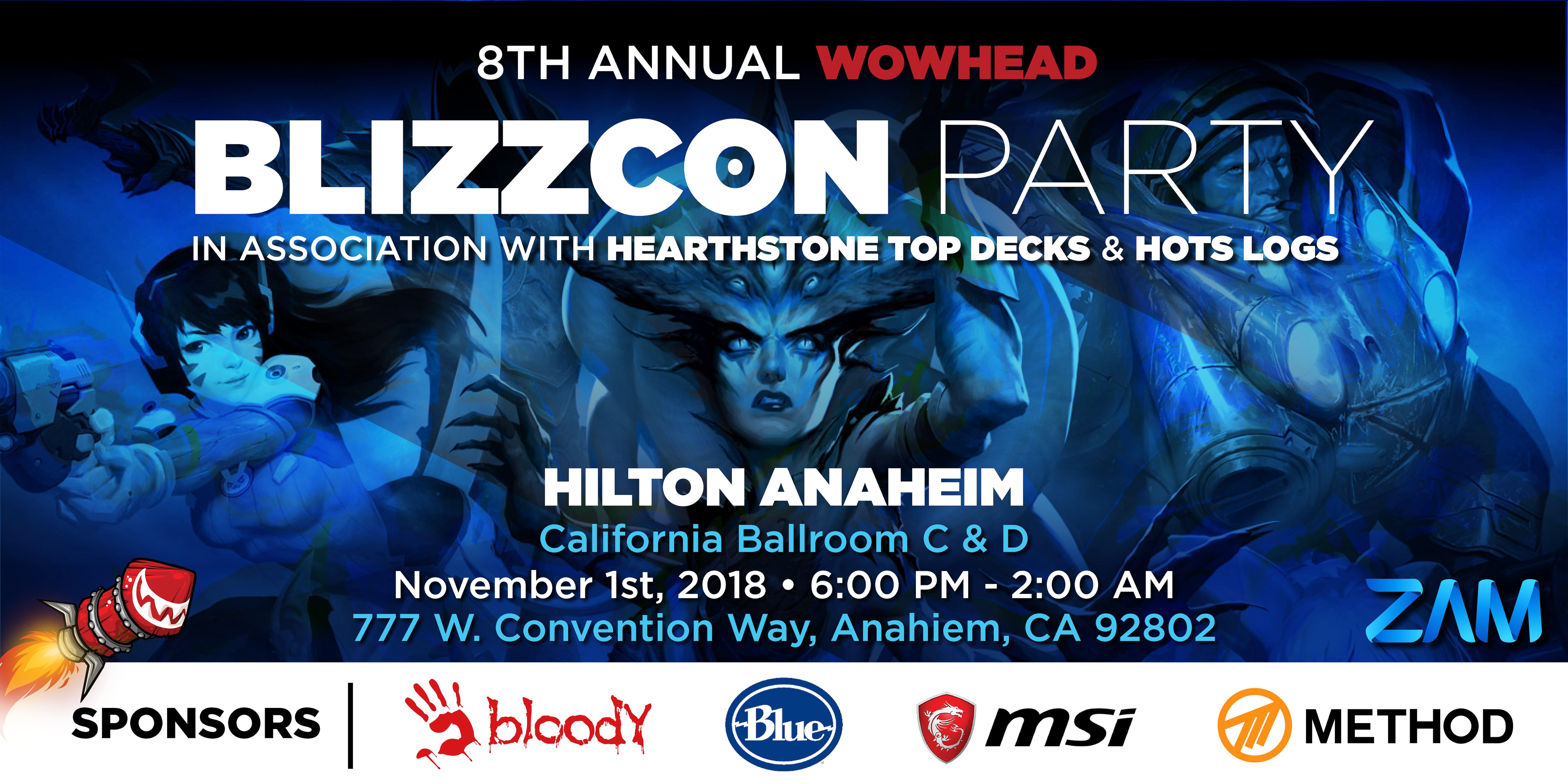 wowhead blizzcon party 2018 1 nov 2018