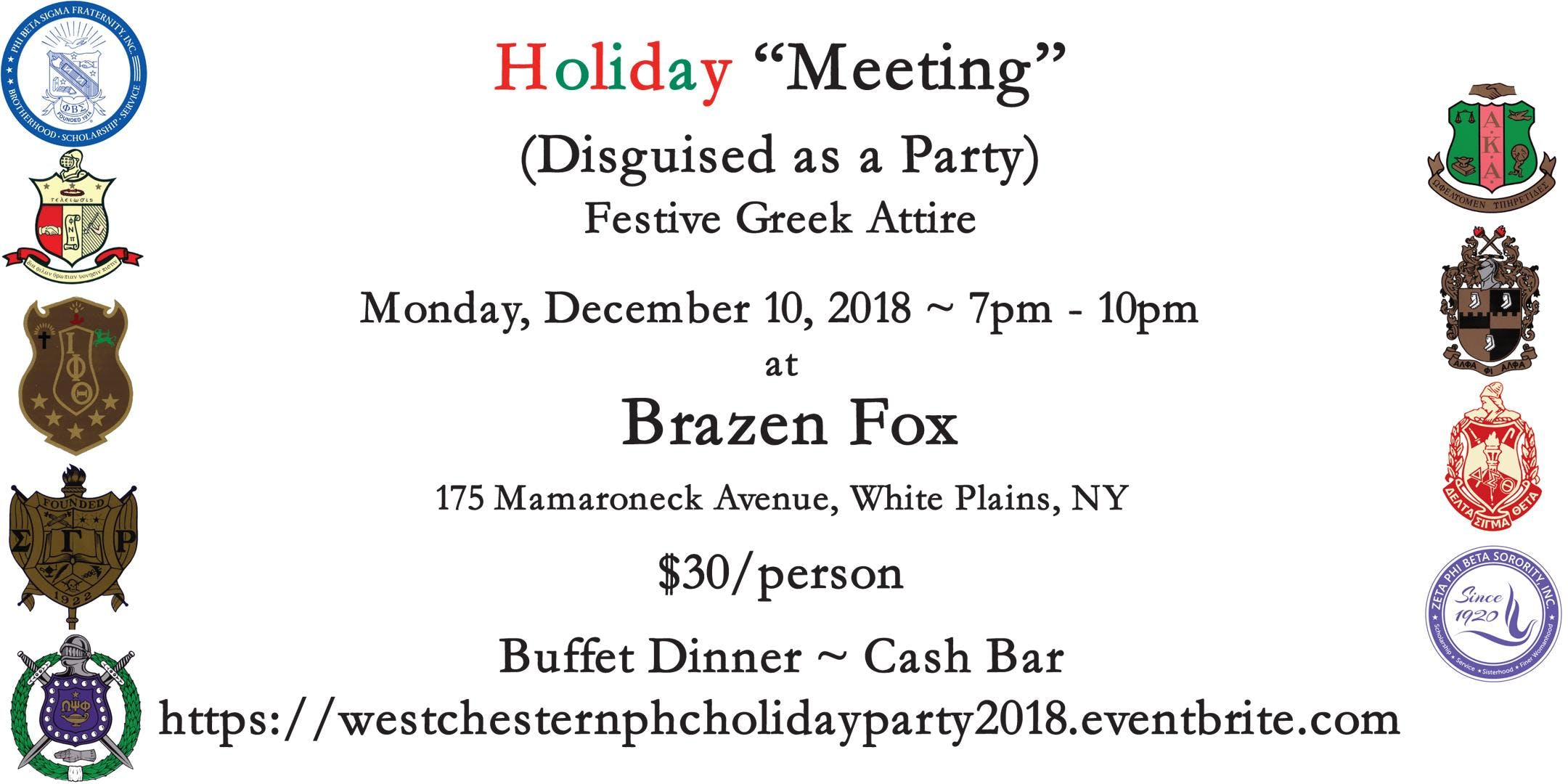 Westchester Pan Hel Holiday Party 2018