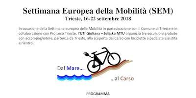 21 settembre - Settimana Europea della Mobilità (SEM)