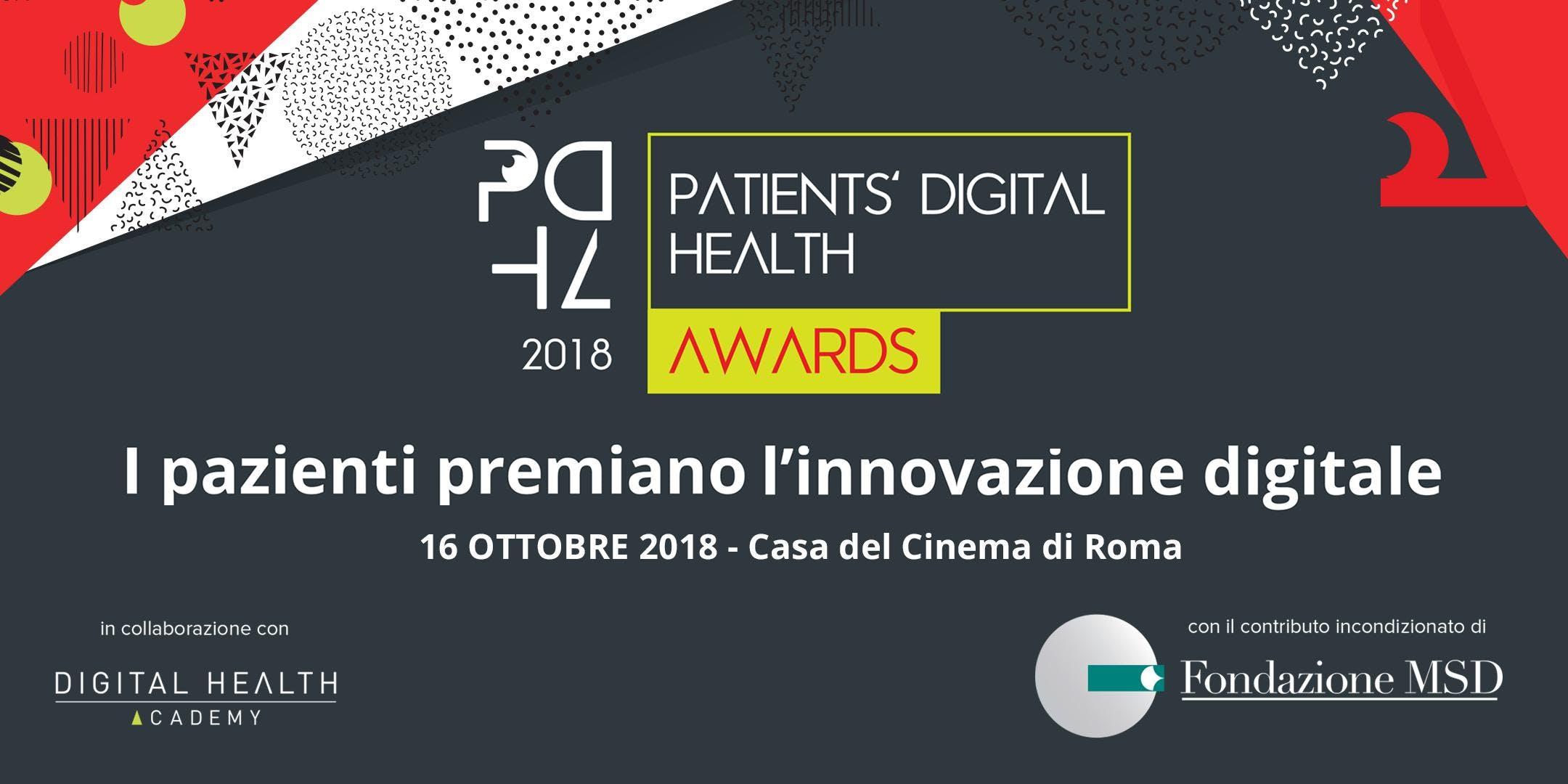 Patients' Digital Health Awards 2018 - Evento di Premiazione