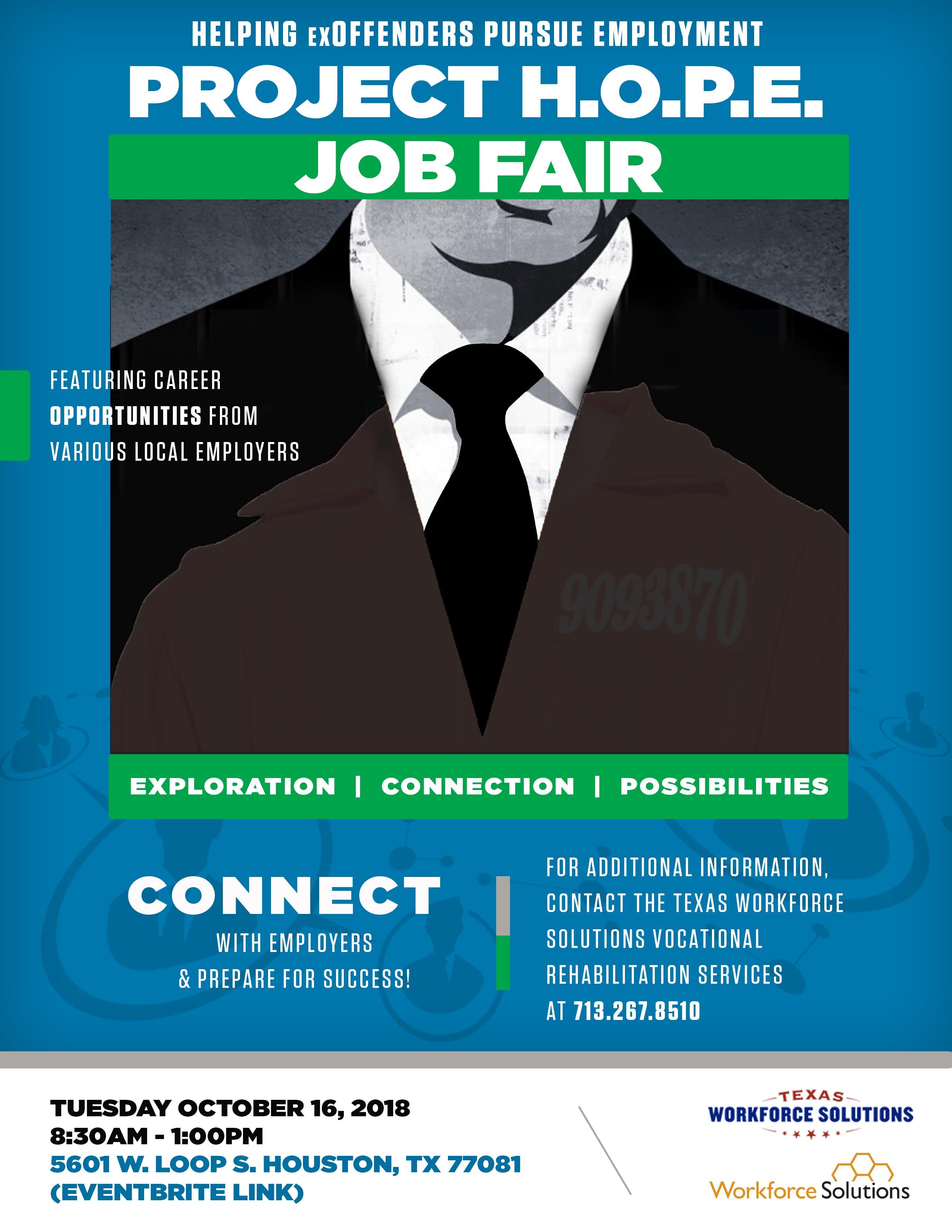 Project H O P E Helping Ex Offenders Pursue Employment Job Fair
