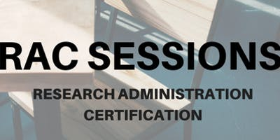 RAC Session 8: Research Compliance Overview