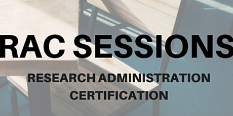 RAC Session 8: Research Compliance Overview tickets