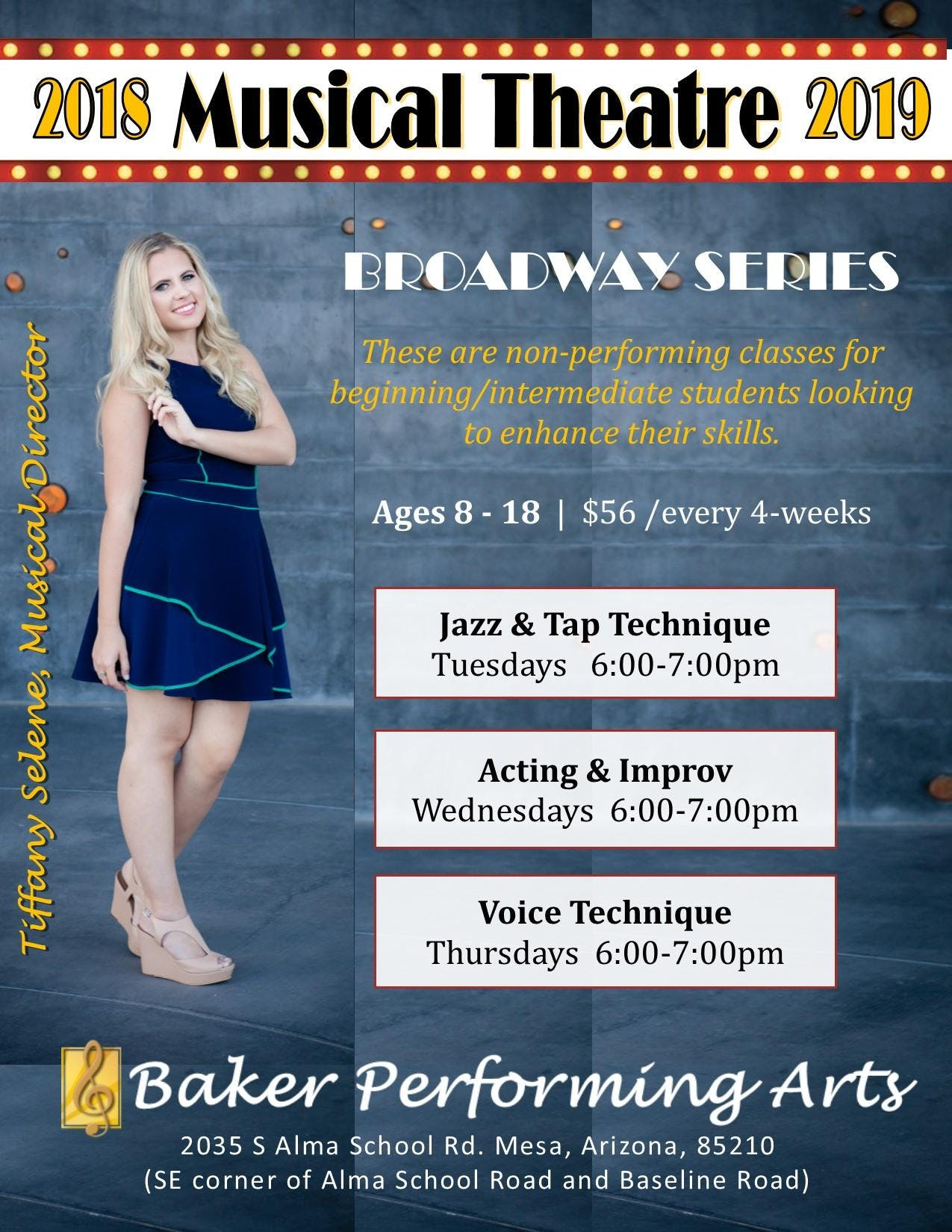 Musical Theatre Broadway Series Monthly Tuition