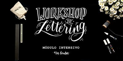 Workshop de Lettering com Na Lousa - Intensivo   São Paulo - Dias 20 e 21/10