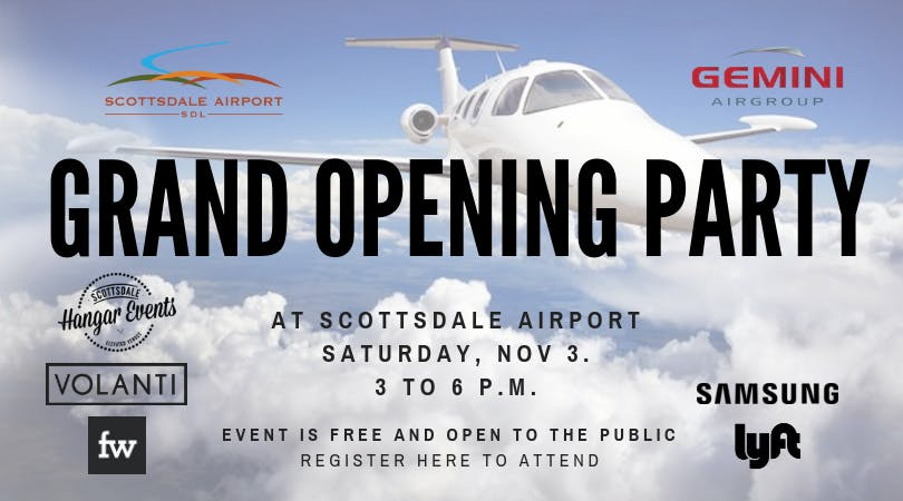 Opening Celebration at Scottsdale Airport's Aviation Business Center!