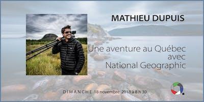 Matinée-rencontre (et brunch) - 18 nov 2018 - Mathieu Dupuis (National Geographic)