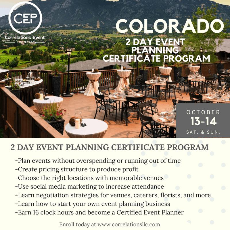 2 Day Colorado Event Planning Certificate Program October 13-14 ...