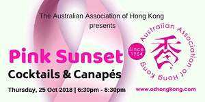 Pink Sunset Cocktails and Canapes