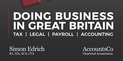 """Presentazione Del Libro """"Doing Business In Great Britain"""""""
