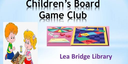 Children's Games Club Every Wednesday - Lea Bridge Library