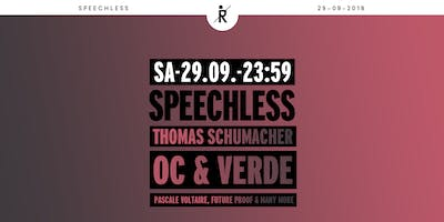 Speechless Summer Closing /w Thomas Schumacher, OC & Verde uvm.