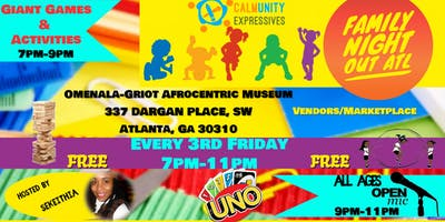 Family Night Out ATL (Games/Activities/All Ages Open Mic)