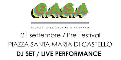 G.A.S.A presenta: WARMUP PRE-FESTIVAL con Origine Mediterranea DJ SET + Melt Dream VHS SET LIVE VISUAL + Lele Gastini LIVE PAINTING