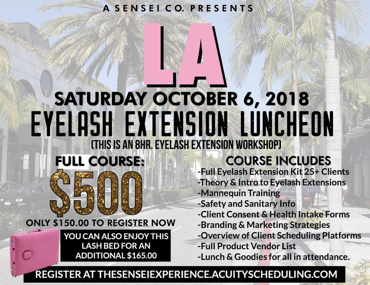 Los Angeles Eyelash Extension Luncheon 20 Oct 2018