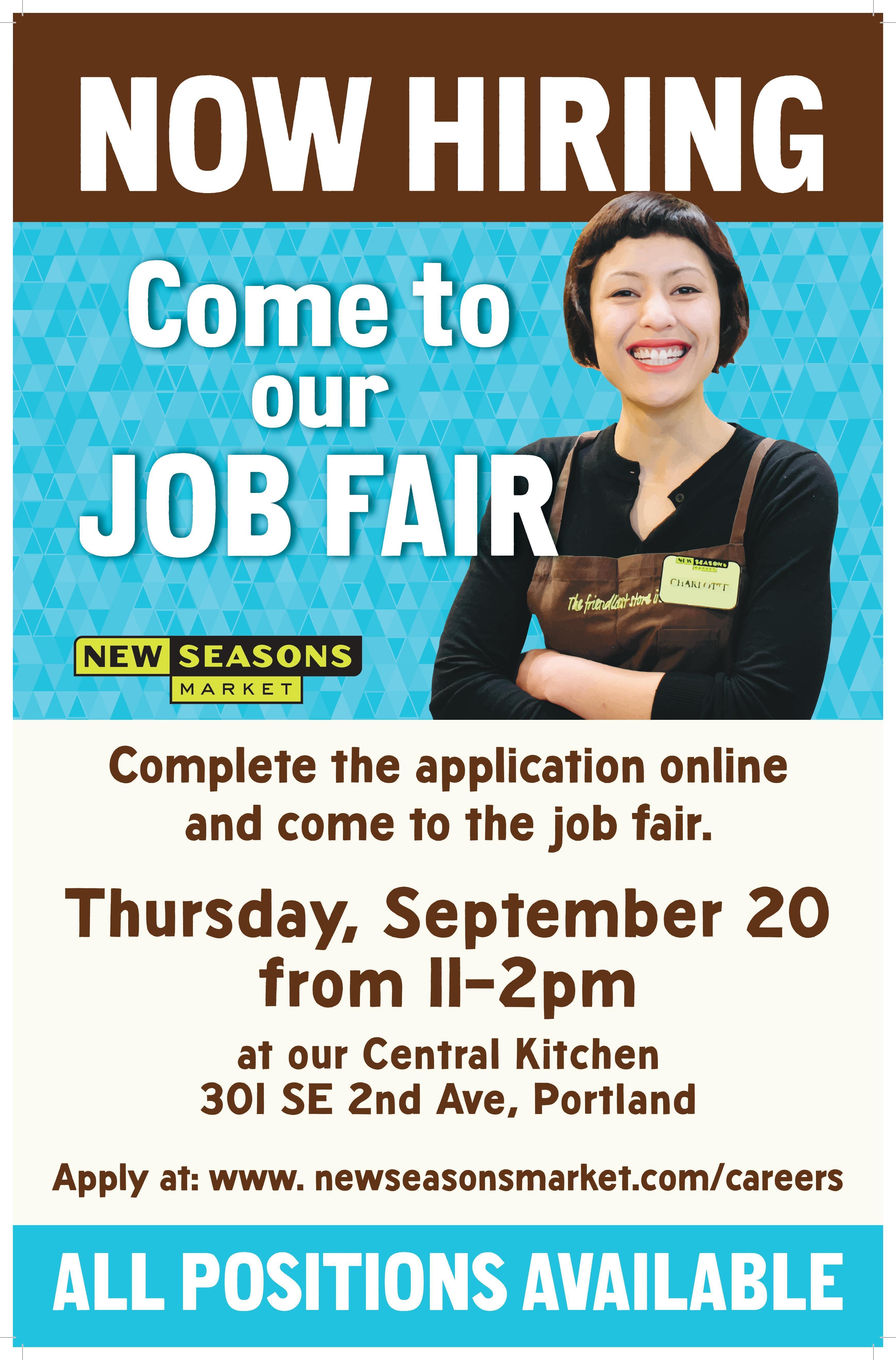 New Seasons Market- Central Kitchen Job Fair
