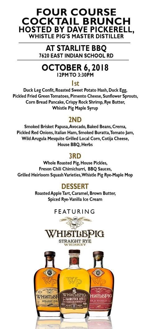 Whistle Pig Brunch with Dave Pickerell