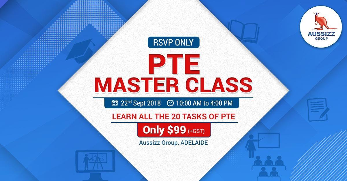 PTE Masterclass - Adelaide