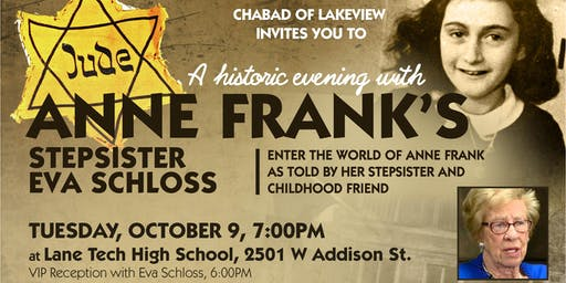 Chicago il appearance events eventbrite a historic evening with eva schloss stepsister of anne frank m4hsunfo