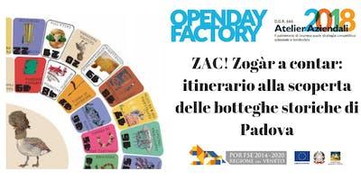 ZAC! Zogàr a contar: itinerario alla scoperta delle botteghe storiche di Padova