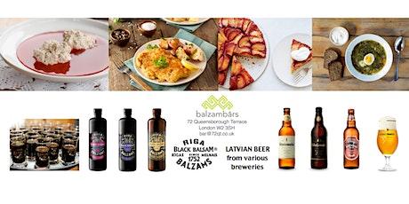 Latvian Style Dinner at Balzambars London (London Latvian House)  tickets
