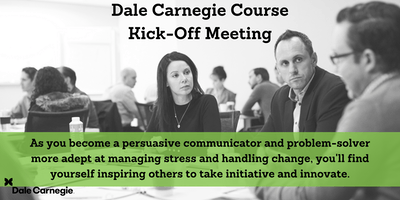 Dale Carnegie Course - Kick-off - Burlington