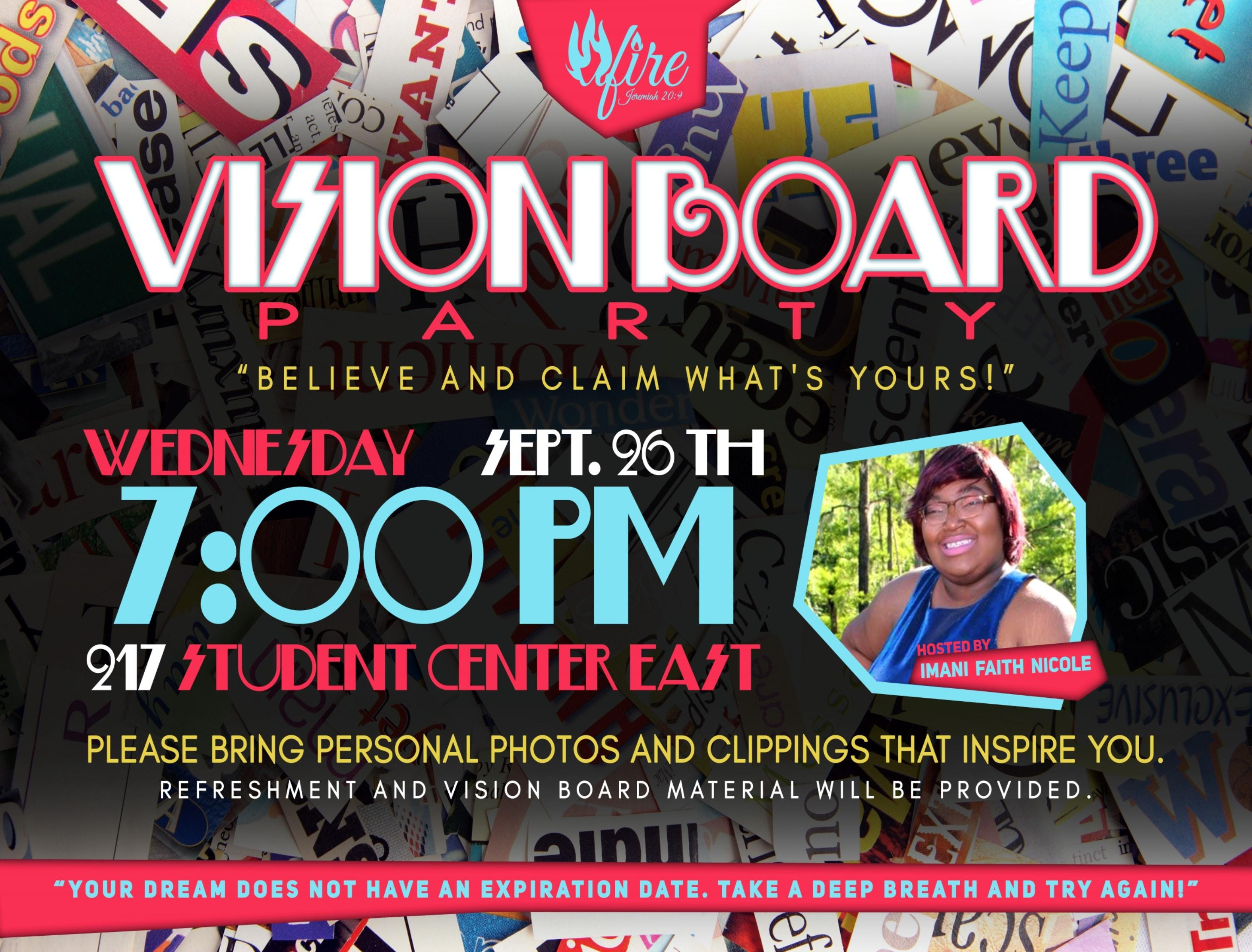 Believe It & Claim What's Yours Vision Board
