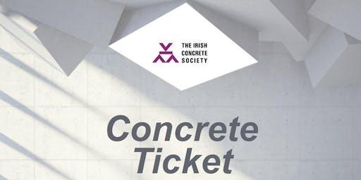 Irish Concrete Society's Concrete Ticket Course Dublin 5th of November 2019