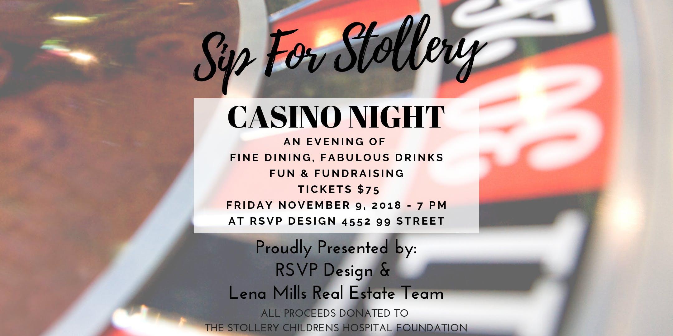 sip for stollery casino night 9 nov 2018