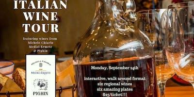 Italian Wine Tour: an Interactive Wine & Food Tasting