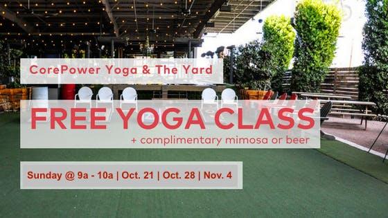 CorePower Yoga & The Yard   Free Yoga Series