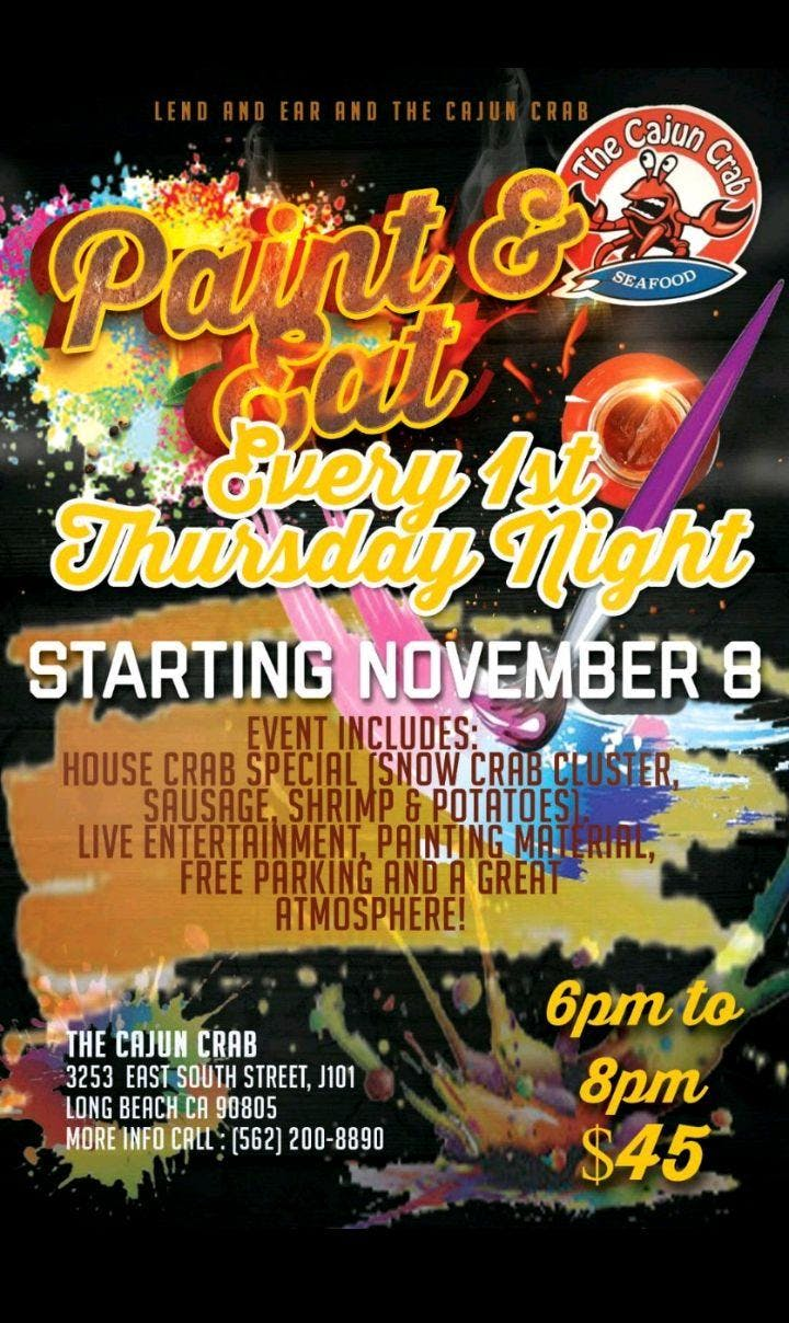 Paint Eat Every 1st Thursday Night