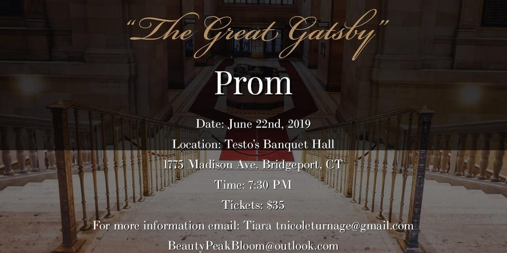 1st Annual Great Gatsby Adult Prom Tickets Sat Jun 22 2019 At 730 PM