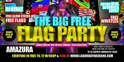 THE BIG FREE FLAG PARTY THURSDAY AUG 29TH AMAZURA
